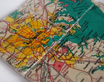 Map Coasters - Baltimore
