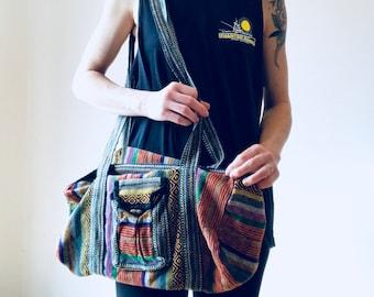 One Size // Boho Crossbody Messenger Hippie Bag Made in Nepal