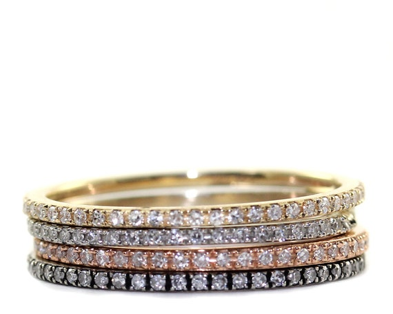 Top Free Shipping Micropave diamond Ring Stacking Ring AP98