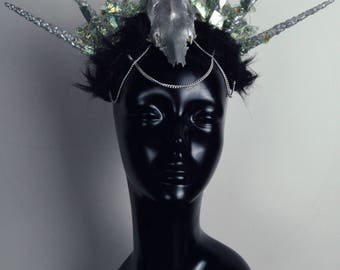 Galaxy ice headdress