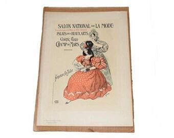 Memorial Day Sale Salon National de La Mode from Les Maitres de l'Affiche pl. 235 by French Artist: Roedel, Art Nouveau Lithograph Poster 11