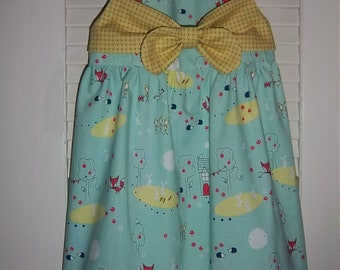 Girl's Dress, Girl's Sundress, Girl's Whimsical Size 4 Dress
