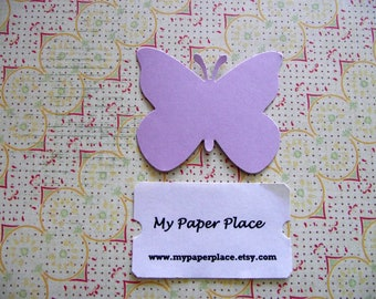 50 Light Lilac  Butterfly Die Cuts- 2 inch cardstock-  Free Secondary Shipping
