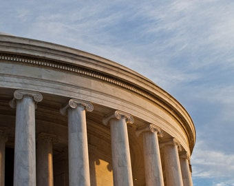 Washington DC Art, Morning Light on Jefferson, Fine Art Photography,Washignton dc skyline, Washignton dc photography,Washignton dc print