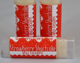 Strawberry Shortcake Lip Balm, Strawberry Shortcake Chapstick, Strawberry Lip Balm, Strawberry Lip Butter, Strawberry Chapstick