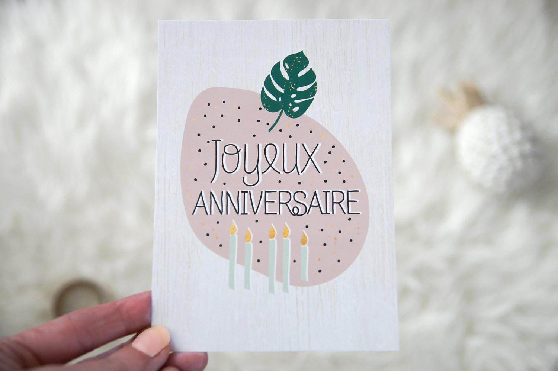 Card Mailing Birthday Happy Birthday Tropical Trend