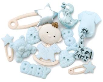 Jesse James Dress It Up Baby Boy Buttons / Embellishments 12 pcs