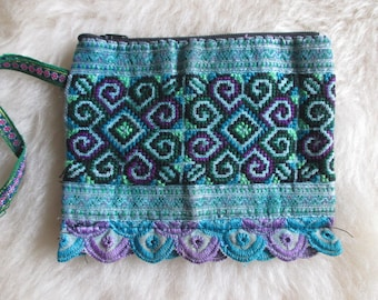 Vietnam Hmong Cotton Embroidered Purses/Wallets