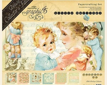 ON SALE Graphic 45 Little Darlings 12x12 Deluxe Collectors Edition Paper Pack