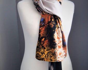 Patchwork Bohemian Gypsy Ethnic Silk Cotton Multi Color Scarf,All seasons Wrap, OOAK, Unique Wrap, Handmade,Shawl, Boho Shawl, Scarf, Boho