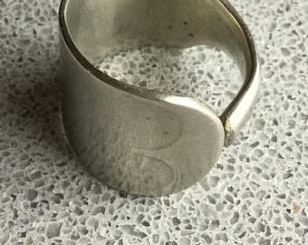 1901 Fiddle Silver spoon ring