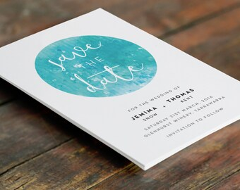 Watercolour Save the Date Cards A6 (Digital File - Printable PDF)