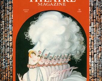 Gesmar Theatre Magazine Vintage Art, Entertainment Ad, Fashion Art, Vintage Gesmar Art, Vintage Art, Giclee Art Print, fine Art Reproduction