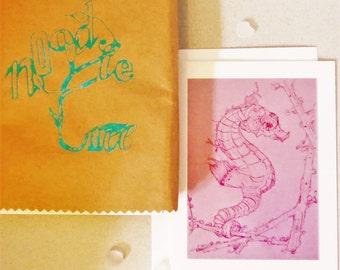 Greeting card set - Ocean Life