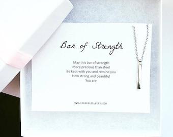Silver Vertical Bar Necklace, vertical bar necklace, bar drop, layering necklace, dainty necklace