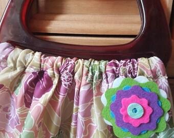 Quirky handmade felt brooch