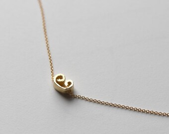 cinnamon slice necklace | minimalist jewelry | silver pendant necklace | gold pendant necklace