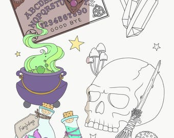 Hocus Pocus Printable Colouring Page