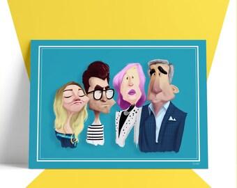 Pre-Order - SCHITT'S CREEK Caricature Poster
