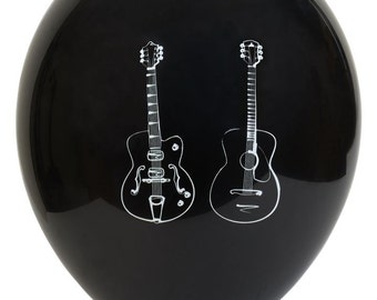 Guitar Balloons 11 inch Biodegradable Latex pack of 6