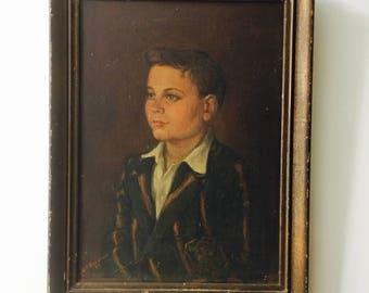 Portrait Painting Original Oil Painting 1951