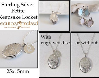 Personalized Sterling Silver Locket, Locket Necklace, Mothers Day Personalized, Engraved Locket, Bridesmaid Gift,Wedding Bridal,Photo Locket