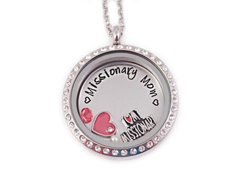 Personalized Missionary Mom Necklace - I Love My Missionary - Engraved - Missionary Necklace - LDS Jewelry - LDS Necklace - Mission - 1246
