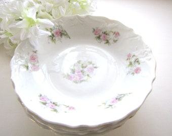 Vintage Dessert Bowls Pink Floral Set of 4 Small Berry Bowls Fine China from AllieEtCie