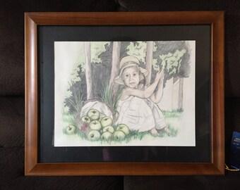 Whimsical Girl Original Drawing