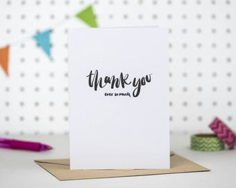 Thank you very much | Thank you card | Special thanks card | Thanks card