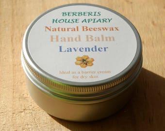 Natural Beeswax Hand Balm, Lavender.