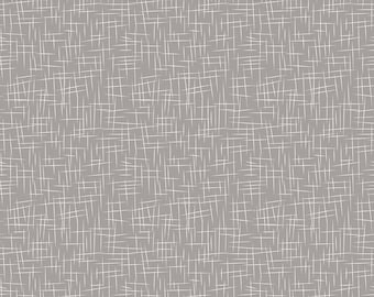 Hashtag Large White on Gray - Riley Blake Designs - Grey - Quilting Cotton Fabric - choose your cut