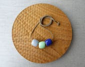 Cube Glazed Bead Necklace...