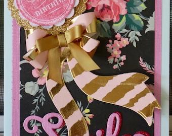 Anna Griffin inspired Handmade Smile Birthday Card