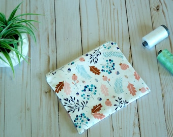 Fall and Feather Small cosmetic bag/ Small zip pouch