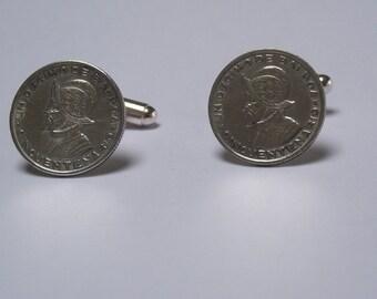 29 1953 Panama 1/10th Balboa Silver Coins Cuff Links