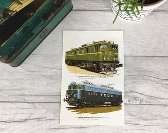 Vintage train print father's day gift grandfather gift stepfather gift for him dad gift fathers day gift vintage home decor transport print