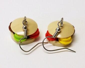 Hamburger Dangle Earrings