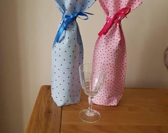 Spotty Fabric Bottle Bags