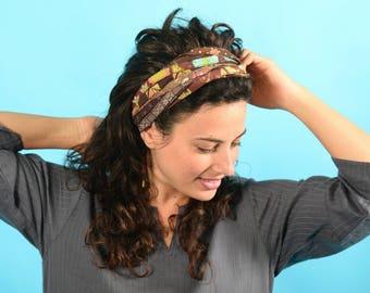 Boho Head Wrap, Bohemian Headband, Colorful Headband, Head Wraps For Women, Wide Headband