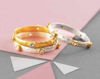 Handmade Ring, Silver Ring, Gold Ring, Gemstone Ring, Unique Ring, Designer Ring, Diamond Ring, Topaz Ring, Rustic Ring, Textured Ring