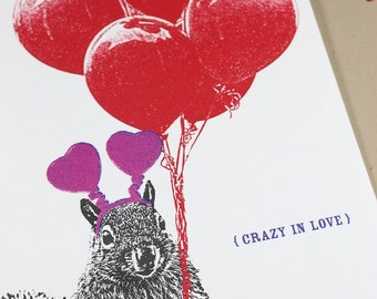 Crazy Squirrel Love - Wedding, Anniversary or Anytime Card