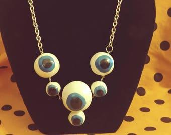 Blue Eyeball Necklace