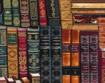 Timeless Treasures fabric LIBRARY BOOKS