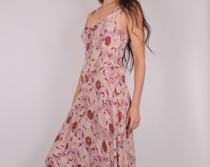 SALE Romantic Vintage Floral Maxi Dress
