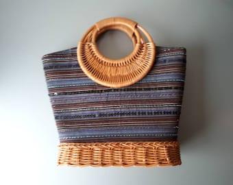 Vintage Rattan Handbag Bohemian Bag