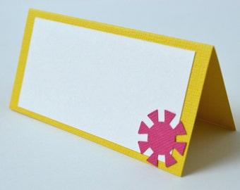 Sunshine Food Labels Yellow, Hot Pink and Orange