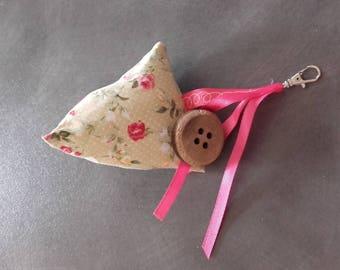 "Keychain or bag charm ""Humbug"" fancy clasp"
