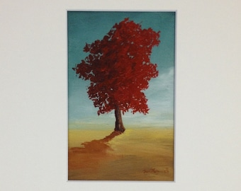 One Red Tree - Print