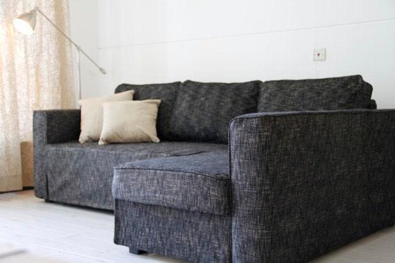 Custom IKEA Manstad Sofa Bed Cover Snug Fit In Nomad Black